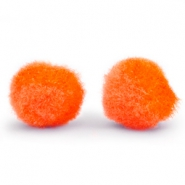 Colgante pompón 8mm naranja spicy